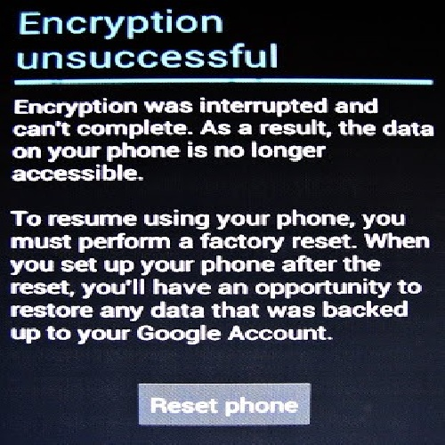 حل 100 درصد مشکل Encryption unsuccessful